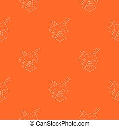 Horse spring see saw pattern vector orange for any web ...