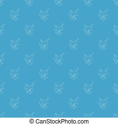 Horse spring see saw pattern vector seamless blue repeat for...