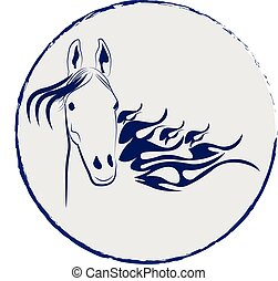 Horse stallion vector logo