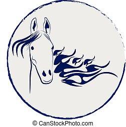 Horse stallion vector logo