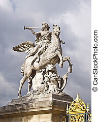 Horse statue in the center Paris. France