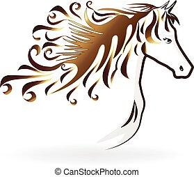 Horse swirl head logo