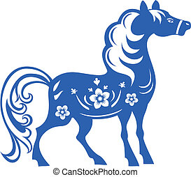 Horse. Symbol of the 2014 year.
