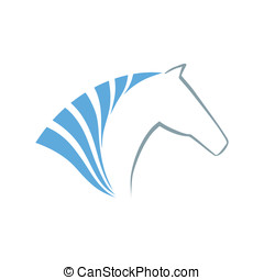 Horse symbol vector. Abstact logo template. Corporate icon.
