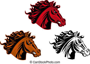 Horse tattoo - Horse cartoon tattoo for design isolated on...
