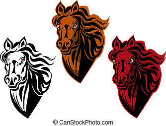 Horse tattoo - Horse cartoon tattoo for design isolated on...