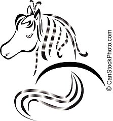 Horse tattoo logo
