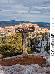 Horse Trail in Snow