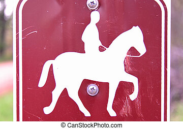 Horse Trail Riding Sign