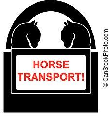 Horse transport symbol isolated on white background