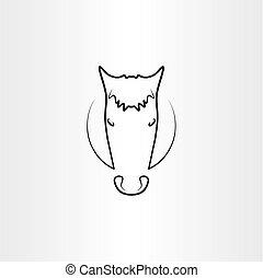 horse vector black icon symbol