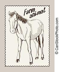 horse vector hand drawn
