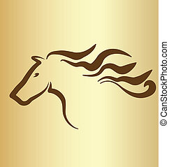 Horse vintage logo - Horse vintage icon vector illustration