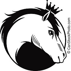 Horse with a crown emblem