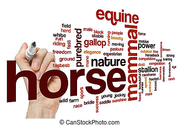 Horse word cloud concept