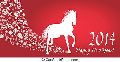 Horse  Year 2014 design. EPS 10