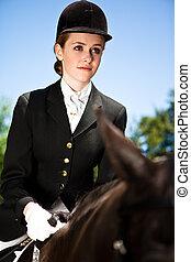 Horseback riding girl