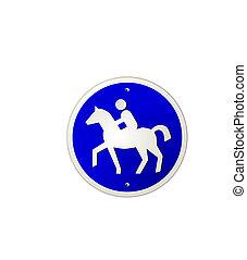 horseback riding sign