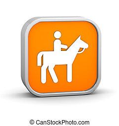 Horseback trail sign