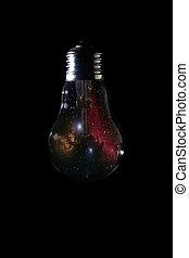 horsehead nebula, fond, sombre, ampoule, intérieur, lumière