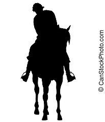 Horseman rides eight