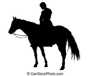 Horseman rides one