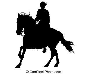 Horseman rides six