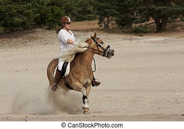 Horseriding in the dunes