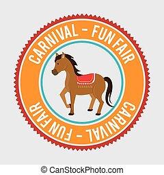 horses circus fun icon