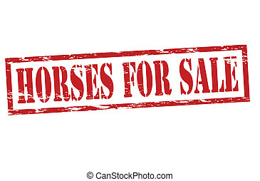 Rubber stamp with text horses for sale inside, vector illustration