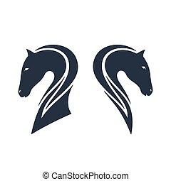 Horses head, vector illustration