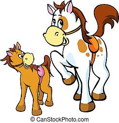 horses illustration isolated