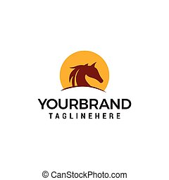 Horses Logo Vector illustration Design Template