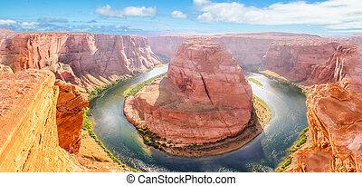 Horseshoe Bend aerial view
