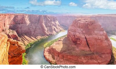 Horseshoe Bend aerial view - Horseshoe Bend of Colorado...