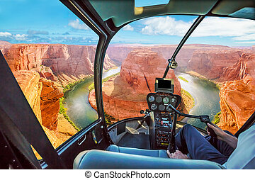 Horseshoe Bend Helicopter