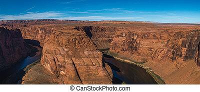 Horseshoe Bend meander of Colorado River in Glen Canyon, Arizona, US