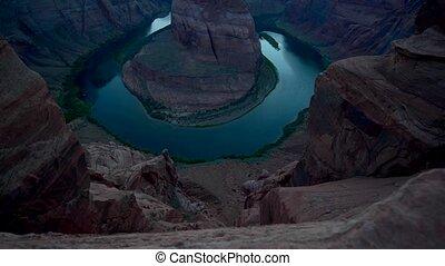 Horseshoe Bend slow upward - Horseshoe Bend meander of the...