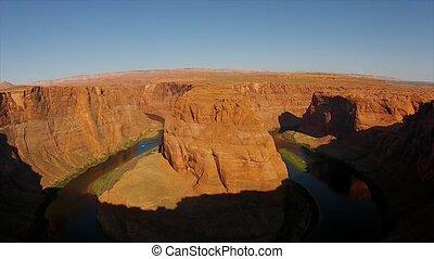 Horseshoe Bend Sunrise Time-lapse 4k UHD Page Arizona, USA