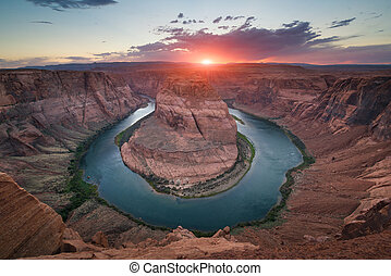 Horseshoe Bend Sunset - Beautiful sunset over Horseshoe Bend...
