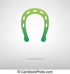 Horseshoe black green icon