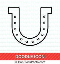 Horseshoe doodle