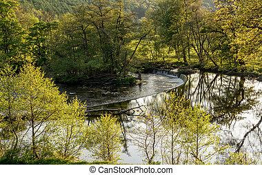 Horseshoe Falls outside Llangollen in Wales