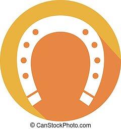 horseshoe flat icon