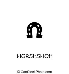Horseshoe flat vector icon