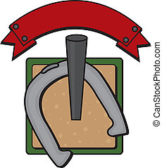 horseshoe game vector