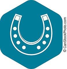 Horseshoe icon simple