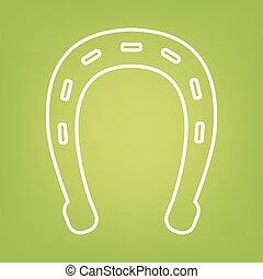 Horseshoe line icon