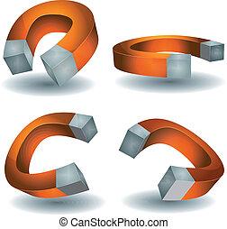 Horseshoe Magnet Set