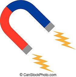 Horseshoe red iron magnet icon